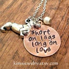 """Short on legs long on love""  from http://www.etsy.com/shop/kimsjewelry?section_id=14292026"