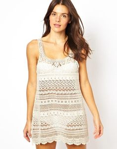 All About Eve Lace Beach Dress
