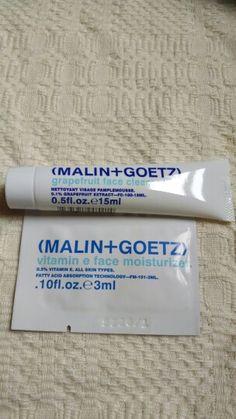 Malin+Goetz grapefruit face cleanser & foil packet of Vitamin e face moisturizer. BNNU