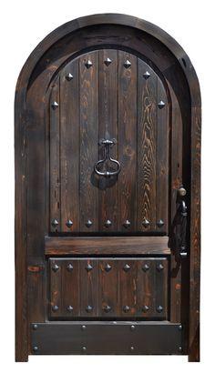 Arched Entrance Door - 16th Cen Gothic Castle Door - 2293AT