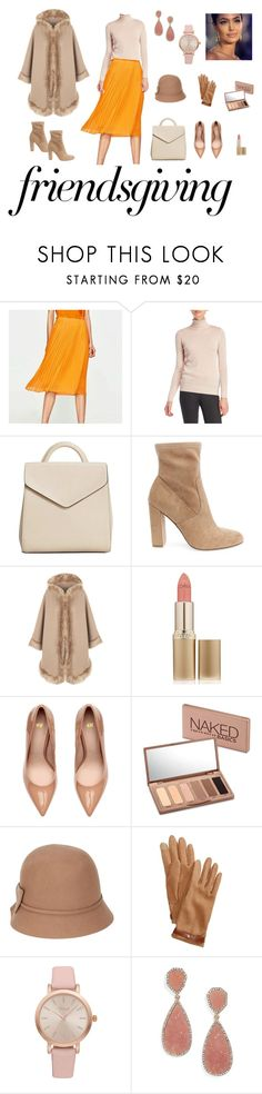 """Thanksgiving Day"" by cu6upb ❤ liked on Polyvore featuring Joseph A., MANGO, Steve Madden, WearAll, L'Oréal Paris, Urban Decay, Betmar, Lauren Ralph Lauren, Vivani and BaubleBar"