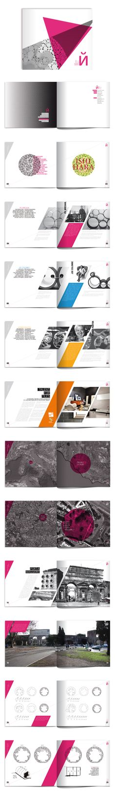 "Architecture and editorial project made for ""Talent for Tiles"" competition. Layout by Mauro De Donatis"