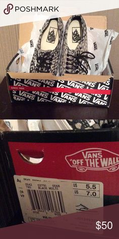 VANS Cheetah Print. Size 7. Excellent condition. I'm 53 and decided I'm too old to pull this off. Haha Vans Shoes Sneakers