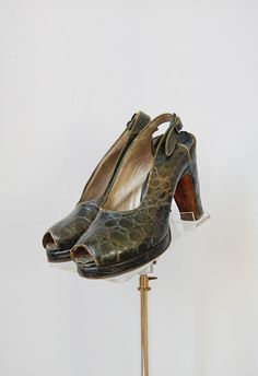 1940s platform heels | Exotic Breed Platforms