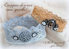 *Jennuine by Rook No. 17*: The Easiest & Quickest Way to Make Lace Crowns {Tutorial}