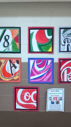 soda cans wall art