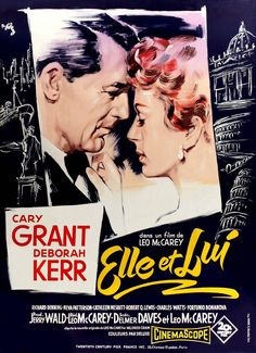 An Affair to Remember (1957) starring Cary Grant & Deborah Kerr — French film postera