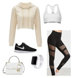 """Untitled #62"" by jessica-cabrera-2 on Polyvore featuring Calvin Klein, Michael Kors, Apple and NIKE"
