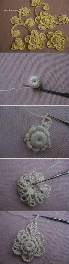 Мк цветка от автора Инны Данильчук