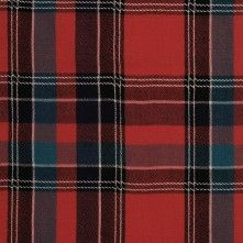 Red & Blue Multicolor Plaid Suiting