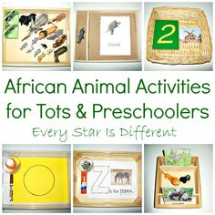 Animals of Africa learning activities and free printables for tots and preschoolers. montessori Animals of Africa Activities for Tots & Preschoolers w/ Free Printables Montessori Toddler, Montessori Activities, Preschool Activities, Montessori Classroom, Kindergarten Classroom, Animal Activities, Learning Activities, Teaching Ideas, Continents Activities