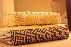 Giant Floor Pillow Tutorial- not sure what I could use this for but they're cute.