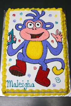 boots the monkey cake | Boots the Monkey — Children's Birthday Cakes
