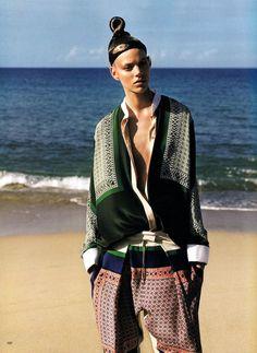 Vogue Japan, July 2011 - This Empty Heart  Freja Beha Erichsen - Model  Alasdair McLellan - Photographer  George Cortina - Fashion Editor/Stylist  Laurent Philippon - Hair Stylist  Jeanine Lobell - Makeup Artist