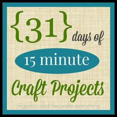 31 Days of 15 Minute Craft Projects : 31 Days of 15 Minute Craft Projects – Organize and Decorate Everything Reindeer Clothespin, Small Linen Closets, No Sew Pillow Covers, Valentine's Day Printables, Sewing Pillows, 31 Days, Christmas Crafts, Christmas Ideas, Couture Facile