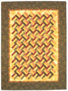 "batik quilt patterns simple quilts | Triple Rail on Point"" from More Fat Quarter Quilts"