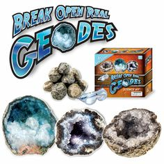 Fat Brain Toy Award for Science and Nature Toy - Break Open Geodes from Discover with Dr. Cool