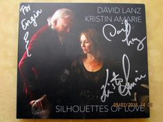 "David Lanz / Kristin Amarie ""Silhouettes of Love"" (front cover)"