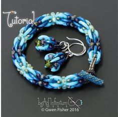 This tutorial explains how to bead weave a bracelet and earrings with Toho's Crescent beads and a variety of seed beads. The Blast Off Bracelet is solid and somewhat flexible. The cable is rou Seed Bead Tutorials, Beading Tutorials, Beaded Earrings, Beaded Jewelry, Beaded Bracelets, Super Duo, Bracelet Tutorial, Bracelet Patterns, Loom Bracelets