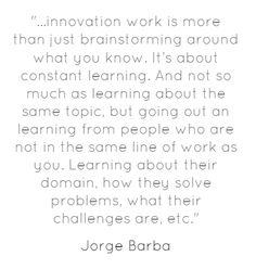 A Powerful Innovation Breeding Habit - @jorgebarba