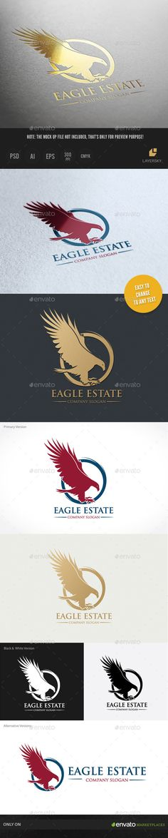 Eagle Estate Logo Template #design #logotype Download: http://graphicriver.net/item/eagle-estate/9236975?ref=ksioks