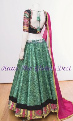 Chaniya choli 2018 Buy online beautiful designer collection -ghaghra choli navratri collection at best prices at RAAS THE GLOBAL DESI . Choli Designs, Lehenga Designs, Blouse Designs, Garba Dress, Navratri Dress, Chaniya Choli For Navratri, Choli Dress, Indian Dresses, Indian Outfits