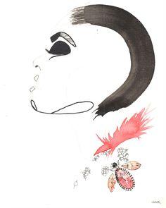 #fashion #illustration #haak #katlinhaak #fashionillustration