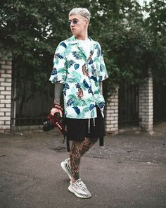 Style Outfits, Summer Outfits, Trendy Outfits, Stylish Men, Men Casual, Urban Fashion, Mens Fashion, Mode Man, Skateboard Fashion