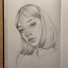I've just realized I always draw neutral faces and. - I've just realized I always draw neutral faces and. Pencil Art Drawings, Art Drawings Sketches, Cute Drawings, Drawings Of Faces, Sketch Drawing, Aesthetic Drawing, Aesthetic Art, Arte Sketchbook, Art Hoe