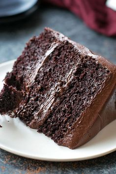 A moist, rich, triple layer chocolate blackout cake with a chocolate cream cheese frosting. Warning: for extreme chocolate lovers only!