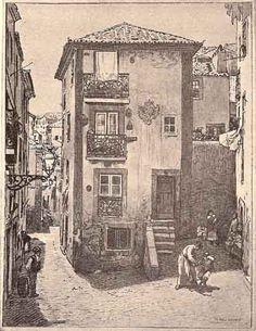 Rua do Loureiro   Portugal velho   drawing