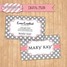 Mary Kay Business Card Digital File Direct Sales by MyMadeleine