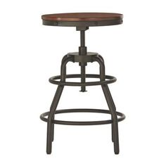 2925f7d0f1a92 Home Decorators Collection Industrial Mansard Adjustable Height Black Bar  Stool-0559400210 - The Home Depot
