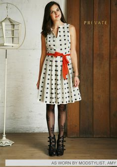 Dice as Nice Dress  Polka dots are to spring as Plaid is to fall