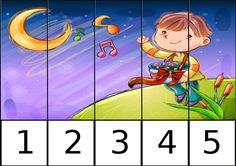 Puzzles numéricos 1 AL 5 trabajamos la motricidad y la numeración