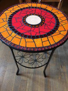 Mosaik-Tisch, Beistelltisch, Garten, Bistrotisch I am pleased to add this article from my shop to yo Mosaic Outdoor Table, Mosaic Coffee Table, Outdoor Table Tops, Mosaic Tile Art, Mosaic Artwork, Stone Mosaic, Mosaic Art Projects, Mosaic Crafts, Mosaic Furniture