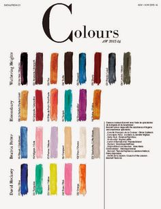 TREND COUNCIL SS 2016- GLOBAL COLOR | Spring/Summer 2016 ...