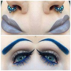 "Lip Tar ""Sebastian"" @occmakeup    Septum @vidakush    Eyes @makeupforeverofficial    Lentilles @desioeyes"
