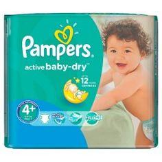 Pack 56 Couches Pampers Baby Dry taille 4+ sur Le roi de la couche