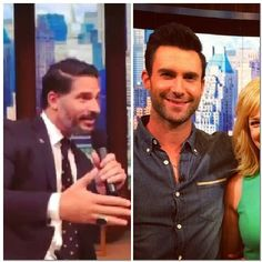 Joe Manganiello and Adam Levine on Live! With Kelly and Michael