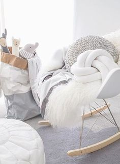 De babykamer in Scandinavische sfeer