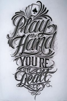 Hand lettering for tshirt, Burn Card Clothing
