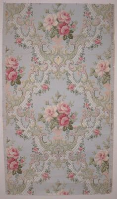 19th century american floral wallpaper ♥ reminds me of the wallpaper in my bedroom as a child. MW