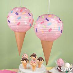 Ice Cream Party Lantern Décor Idea