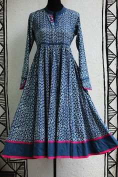 anarkali - indigo & 40 kali – maati crafts