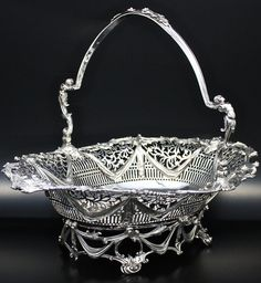 JAMES YOUNG, rococo silver basket, 1773, London