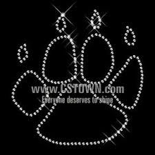 Crystal Dog Paw Print with