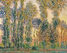 1887 Claude Monet Poplars at Giverny(MOMA)(73 x 92 cm)
