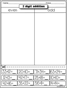 The Lesson Plan Diva: Freebies 2 digit addition