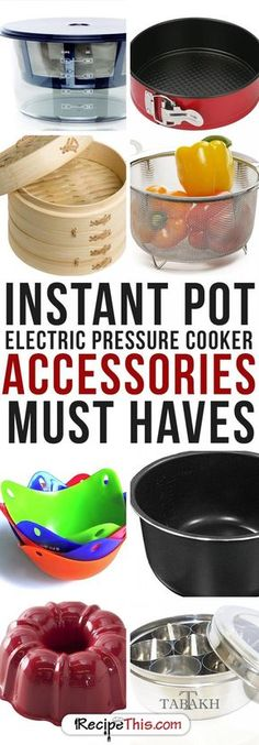 Instant Pot Accessories & What You Really Need For Your Electric Pressure Cooker - Evelyn Myers Slow Cooker Pressure Cooker, Electric Pressure Cooker, Instant Pot Pressure Cooker, Pressure Pot, Instant Cooker, Electric Cookers, Pressure King, Power Cooker Recipes, Pressure Cooking Recipes